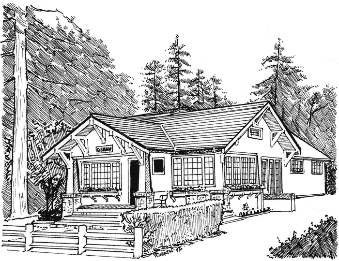 sketch of the GS Haly Company's main office building