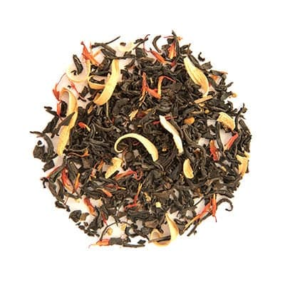 a loose circular grouping of flavored black tea