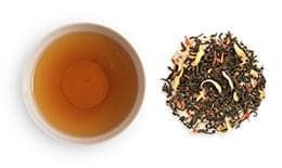 loose groupings and cups of Flavored Black Tea